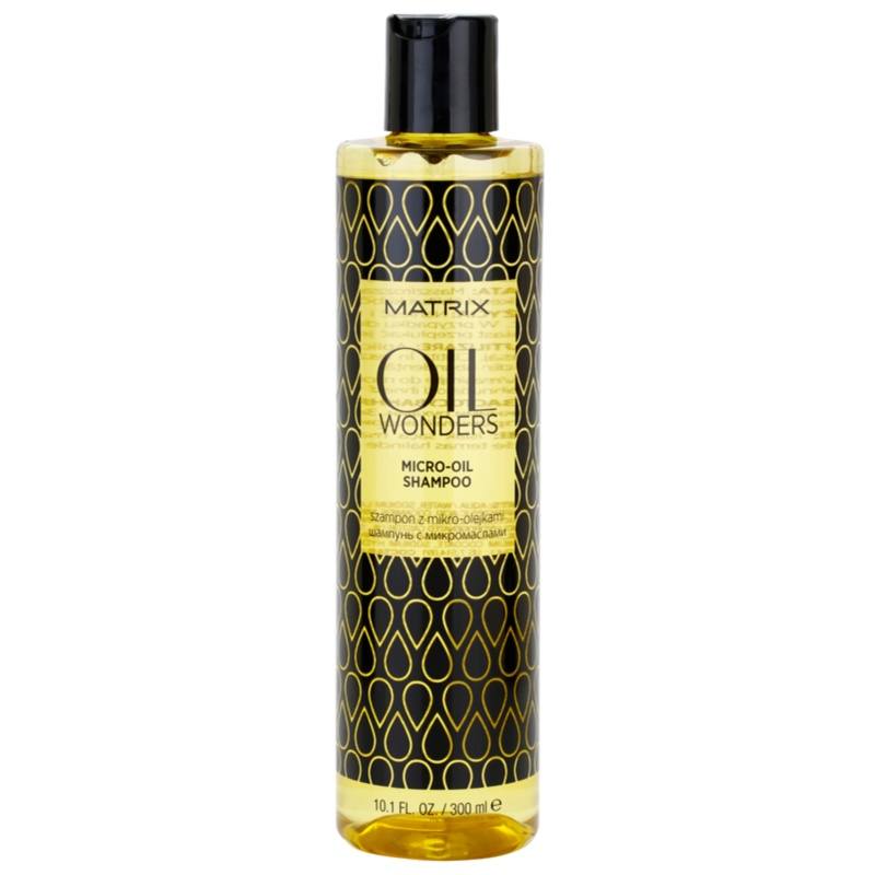 matrix oil wonders oil wonders mikro l shampoo f r gl nzendes und geschmeidiges haar. Black Bedroom Furniture Sets. Home Design Ideas