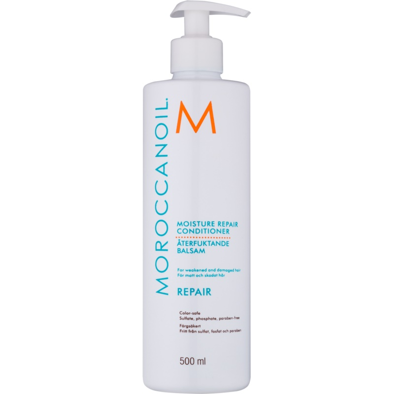 moroccanoil moisture repair apr s shampoing pour cheveux ab m s et trait s chimiquement. Black Bedroom Furniture Sets. Home Design Ideas