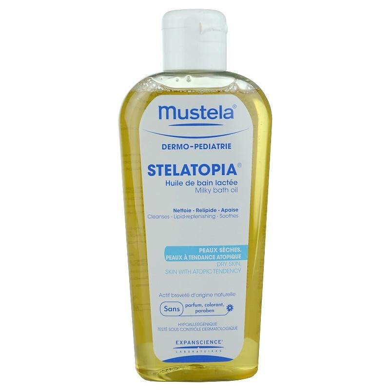mustela dermo p diatrie stelatopia huile de bain pour peaux tr s s ches et atopiques. Black Bedroom Furniture Sets. Home Design Ideas