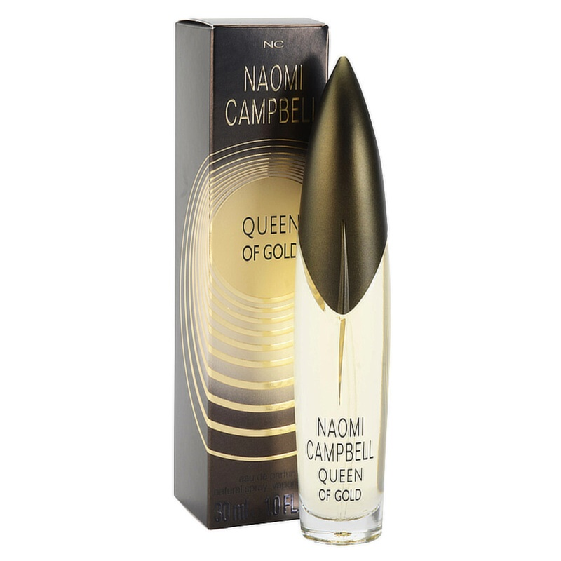naomi campbell queen of gold eau de parfum para mulheres. Black Bedroom Furniture Sets. Home Design Ideas
