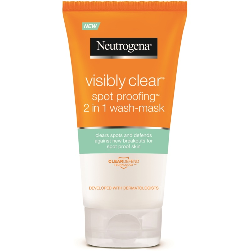 neutrogena visibly clear spot proofing mulsion et masque nettoyante 2 en 1. Black Bedroom Furniture Sets. Home Design Ideas
