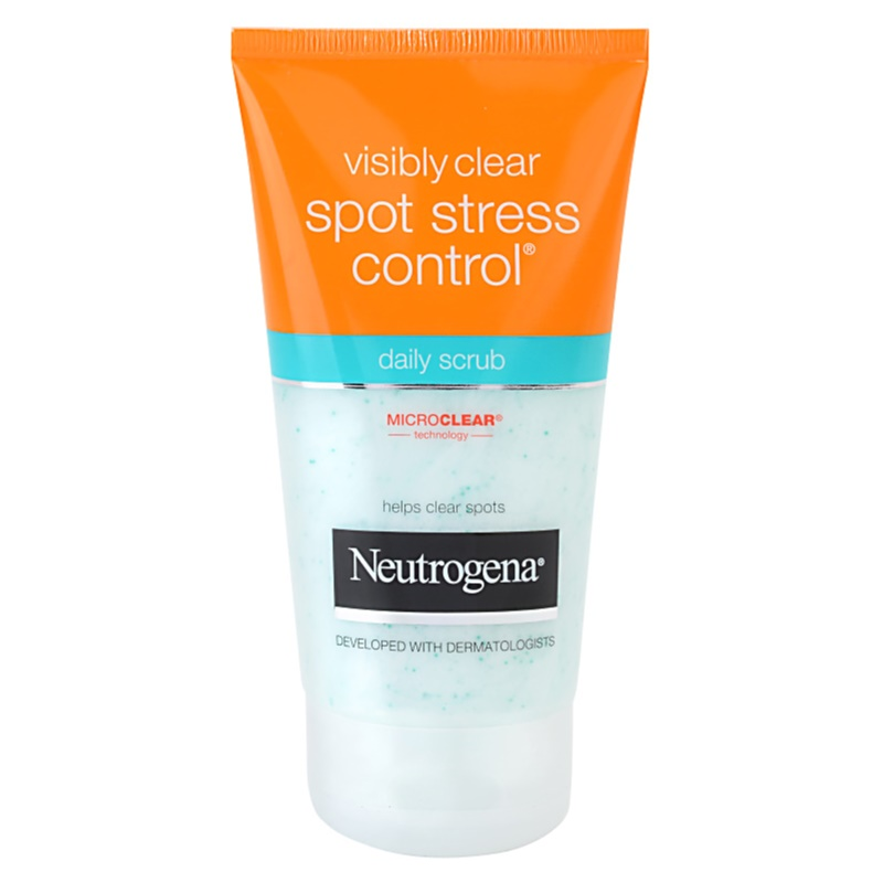neutrogena visibly clear spot stress control gommage usage quotidien. Black Bedroom Furniture Sets. Home Design Ideas