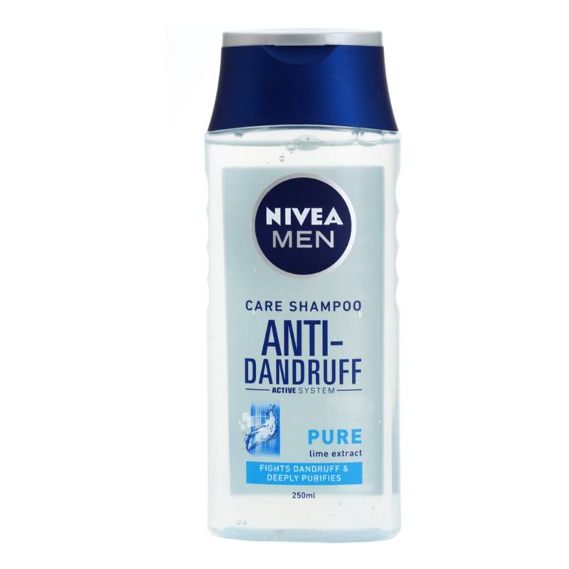 nivea men pure shampoing antipelliculaire pour cheveux normaux gras. Black Bedroom Furniture Sets. Home Design Ideas