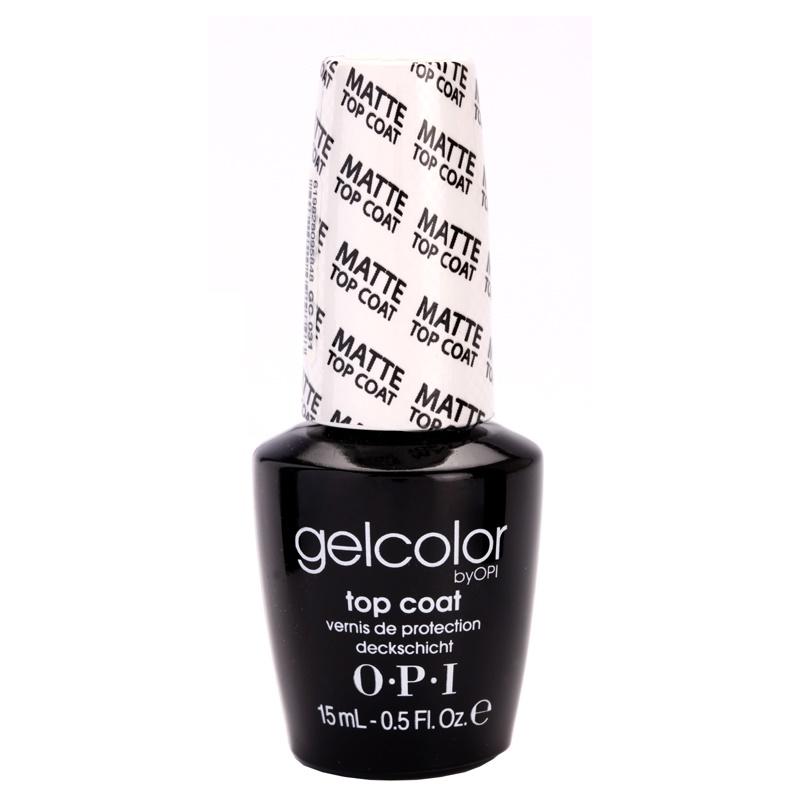 OPI Gelcolor, esmalte capa acabado con efecto matificante para uñas ...