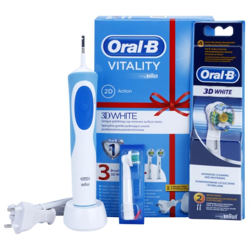oral b vitality 3d white brosse dents lectrique. Black Bedroom Furniture Sets. Home Design Ideas