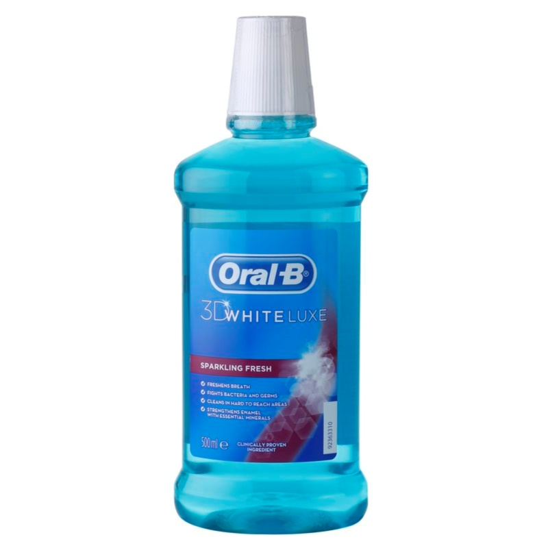 oral b 3d white luxe mouthwash for pearly white teeth. Black Bedroom Furniture Sets. Home Design Ideas