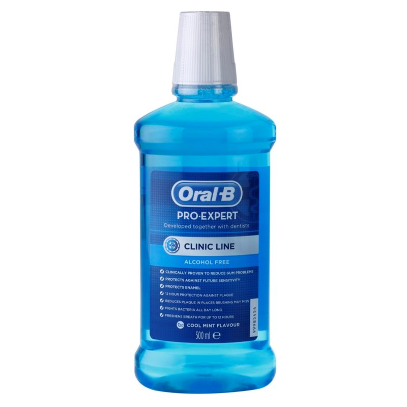 oral b pro expert clinic line mouthwash without alcohol. Black Bedroom Furniture Sets. Home Design Ideas