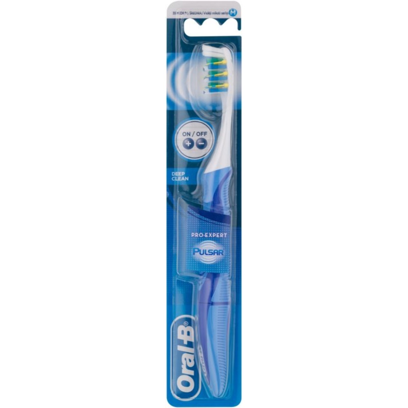 oral b pro expert pulsar battery toothbrush medium. Black Bedroom Furniture Sets. Home Design Ideas