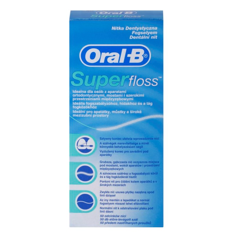 oral b super floss fil dentaire pour appareils dentaires. Black Bedroom Furniture Sets. Home Design Ideas