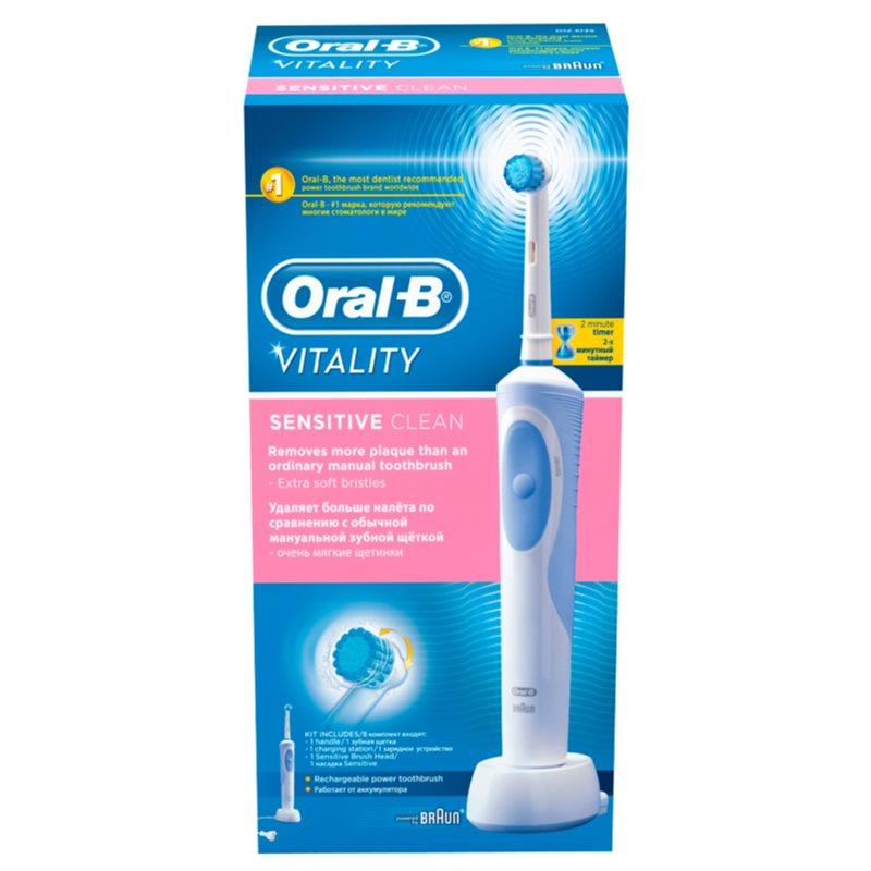 oral b vitality sensitive clean brosse dents. Black Bedroom Furniture Sets. Home Design Ideas