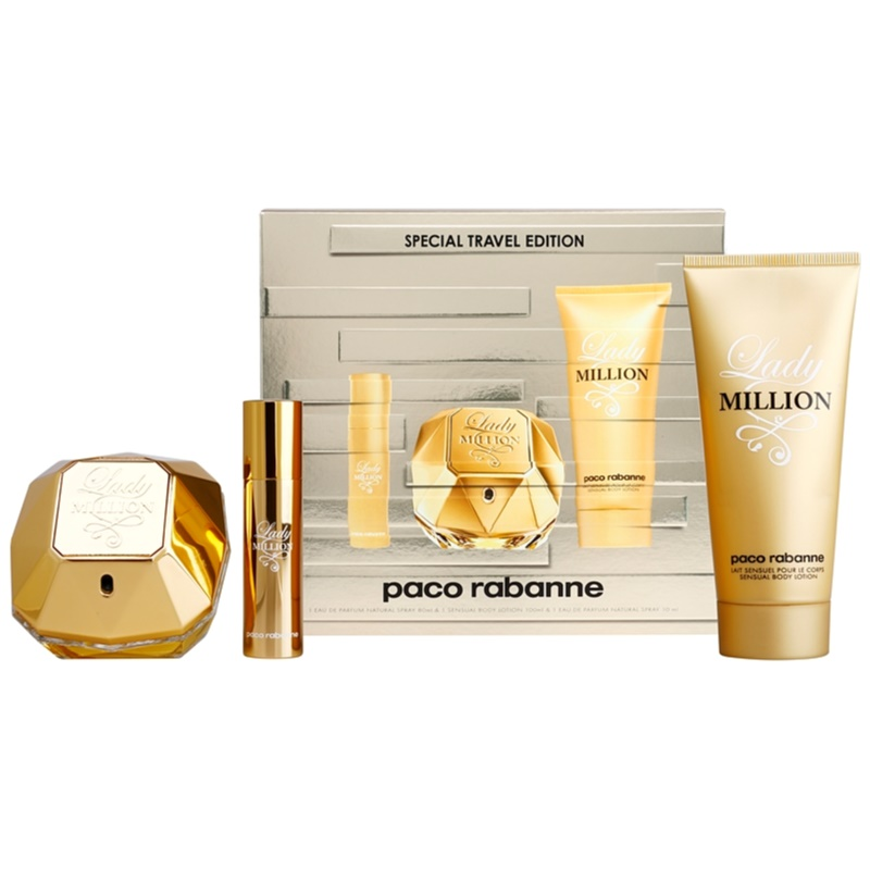 Paco rabanne lady million coffret cadeau xxiv - Coffret lady million pas cher ...