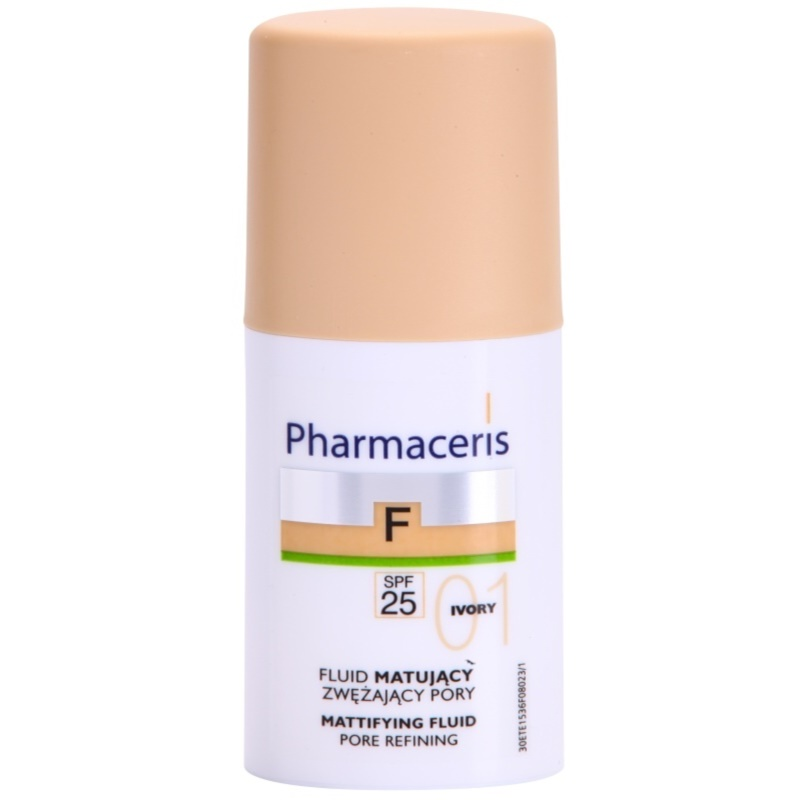pharmaceris f fluid foundation fond de teint fluide matifiant spf 25. Black Bedroom Furniture Sets. Home Design Ideas