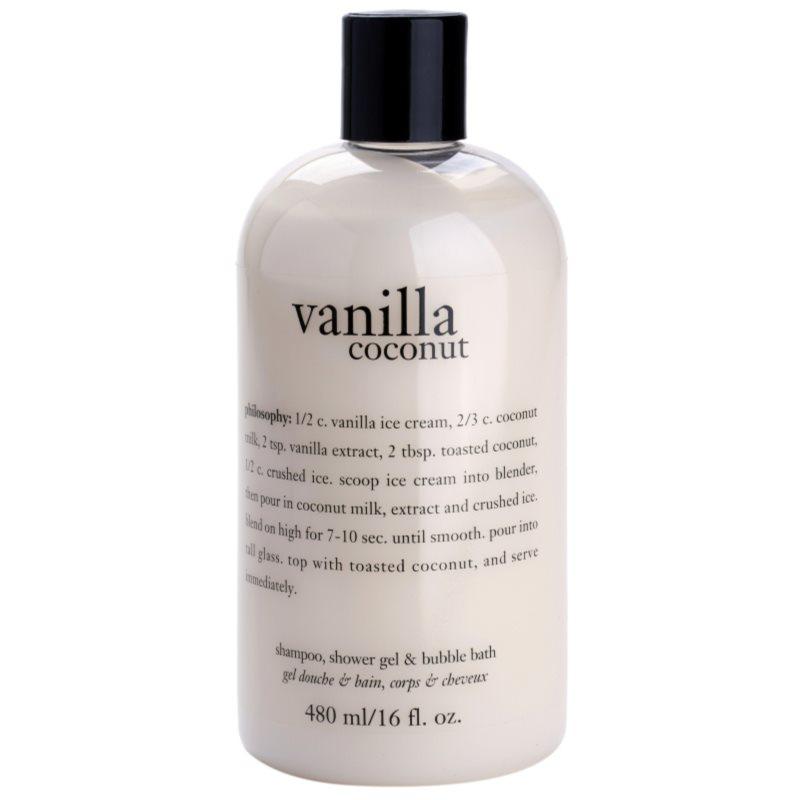 8392c5c1f0e644 Philosophy Vanilla Coconut, żel pod prysznic dla kobiet 480 ml ...