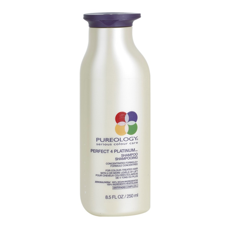 pureology perfect 4 platinum shampoo for blondes and highlighted hair. Black Bedroom Furniture Sets. Home Design Ideas