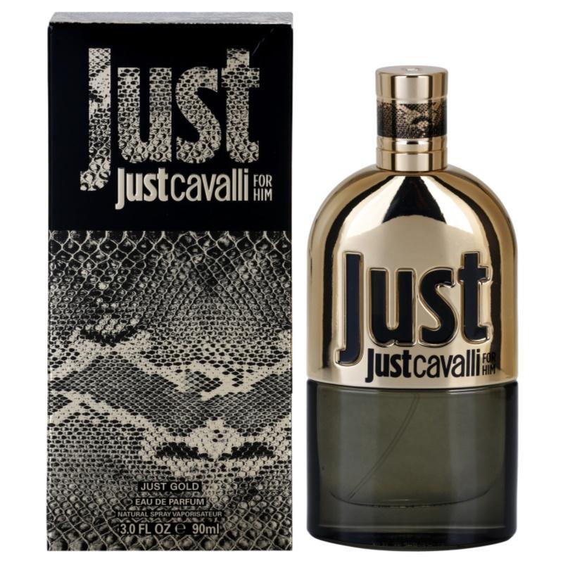 roberto cavalli just cavalli gold eau de parfum herren 90. Black Bedroom Furniture Sets. Home Design Ideas