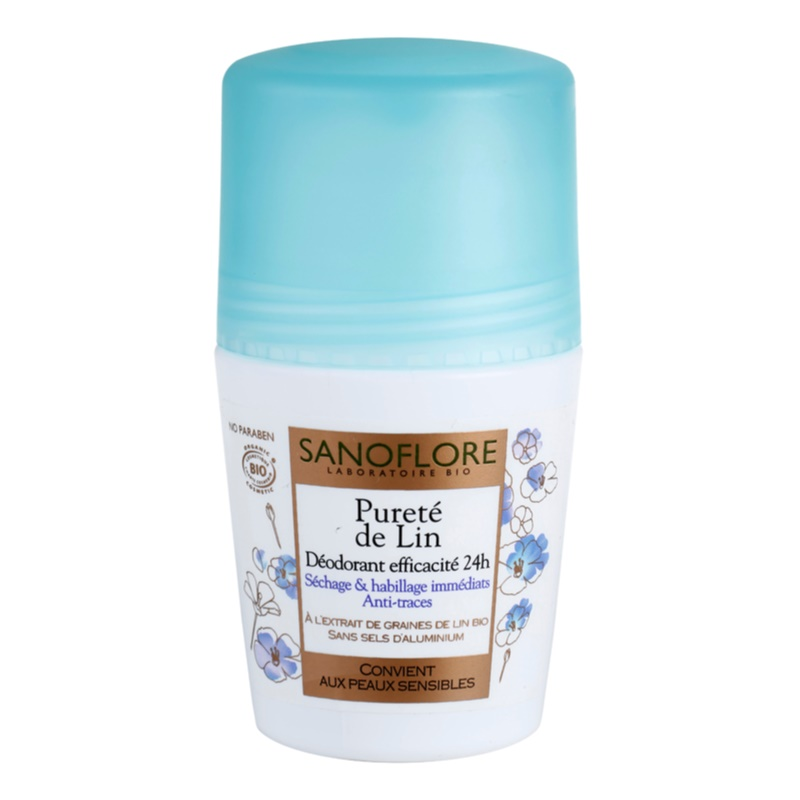sanoflore d odorant roll on deodorant without aluminum content 24 h