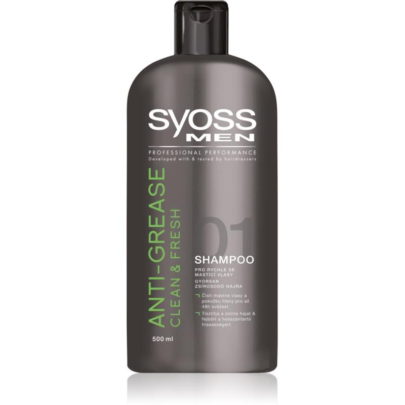 syoss men clean fresh shampoo f r schnell fettiges haar. Black Bedroom Furniture Sets. Home Design Ideas