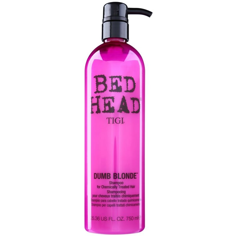 tigi bed head dumb blonde shampoing pour cheveux trait s chimiquement. Black Bedroom Furniture Sets. Home Design Ideas