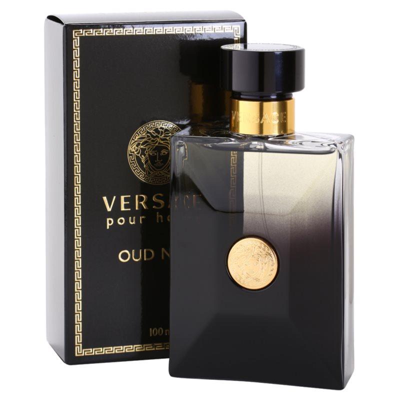 versace pour homme oud noir eau de parfum for men 100 ml. Black Bedroom Furniture Sets. Home Design Ideas