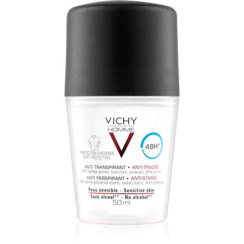 vichy homme deodorant desodorante roll on antimanchas. Black Bedroom Furniture Sets. Home Design Ideas