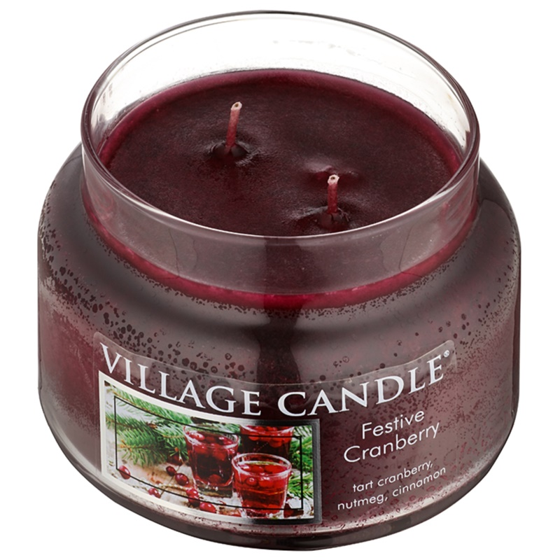 village candle festive cranberry bougie parfum e 269 g petite. Black Bedroom Furniture Sets. Home Design Ideas