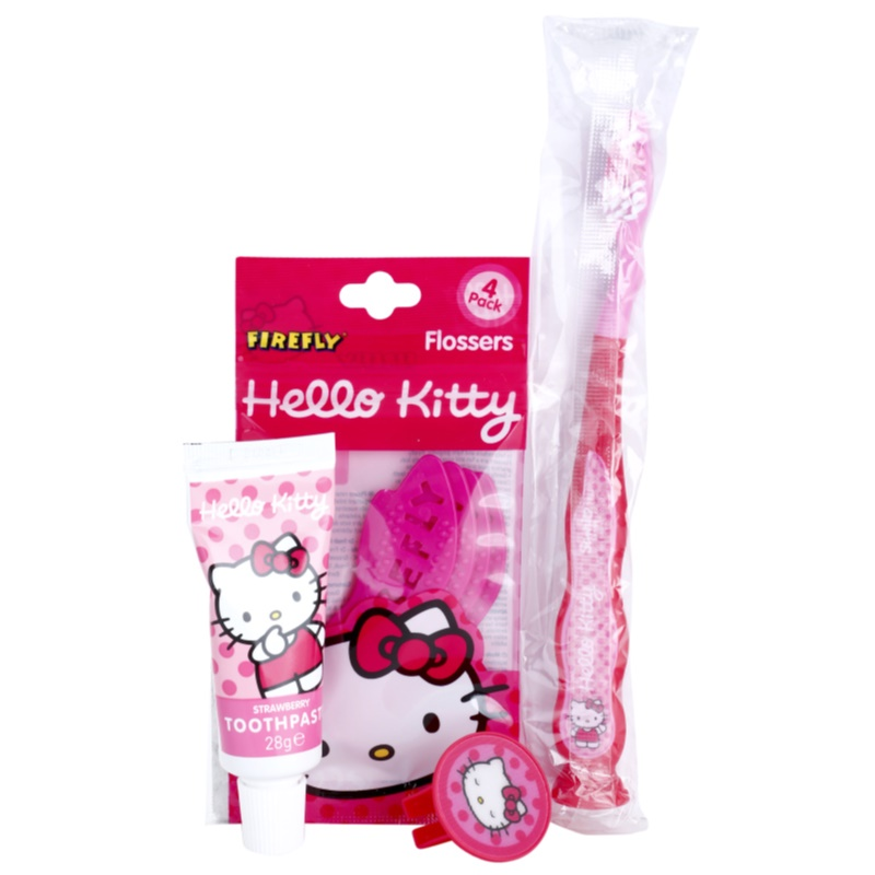 4f3a2dbc9 This set contains: Toothbrush for Kids with Cap + Toothpaste for Kind  Strawberry 0,98 oz + Dental Toothpicks 4 psc