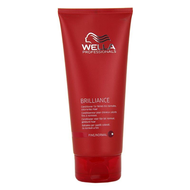 wella professionals brilliance conditioner for fine colored hair