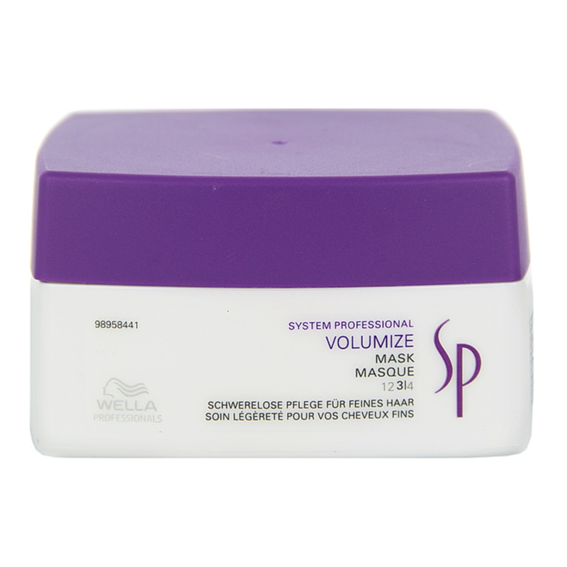 wella professionals sp volumize masque pour cheveux fins et sans volume. Black Bedroom Furniture Sets. Home Design Ideas