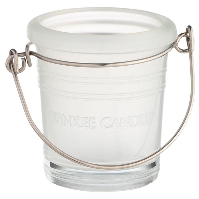 Yankee candle glass bucket porte bougie votive en verre - Porte bougie en verre ...