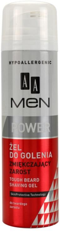 AA Cosmetics Men Power zmäkčujúci gél na holenie pre tvrdé fúzy e572be49f6b