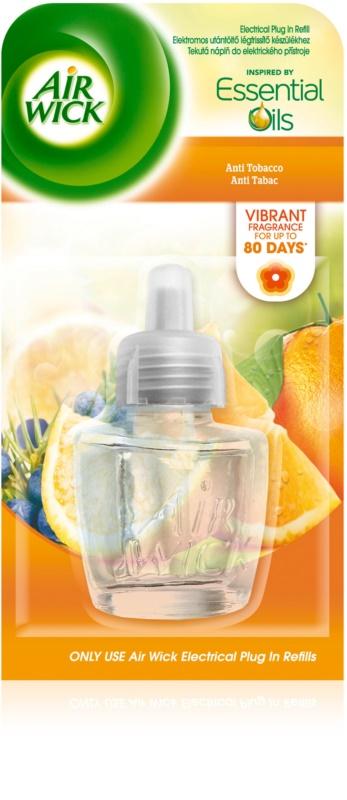 air wick essential oils anti tobacco diffuseur lectrique de parfum d 39 ambiance 19 ml recharge. Black Bedroom Furniture Sets. Home Design Ideas