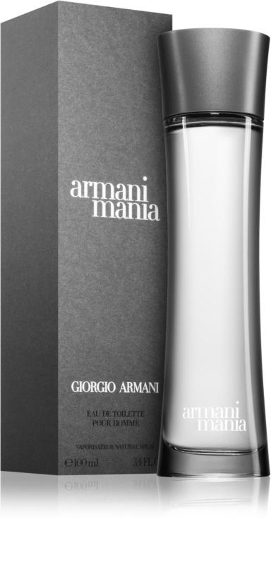 armani mania for men eau de toilette pour homme 100 ml. Black Bedroom Furniture Sets. Home Design Ideas