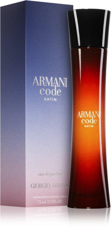 armani code satin eau de parfum para mujer 75 ml. Black Bedroom Furniture Sets. Home Design Ideas