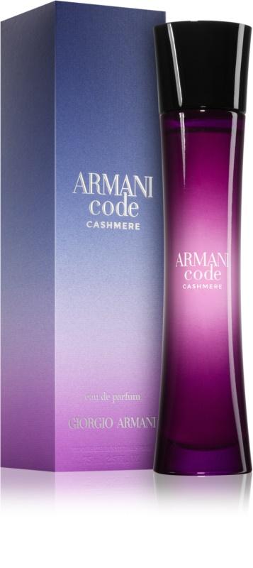 armani code cashmere eau de parfum pour femme 75 ml. Black Bedroom Furniture Sets. Home Design Ideas