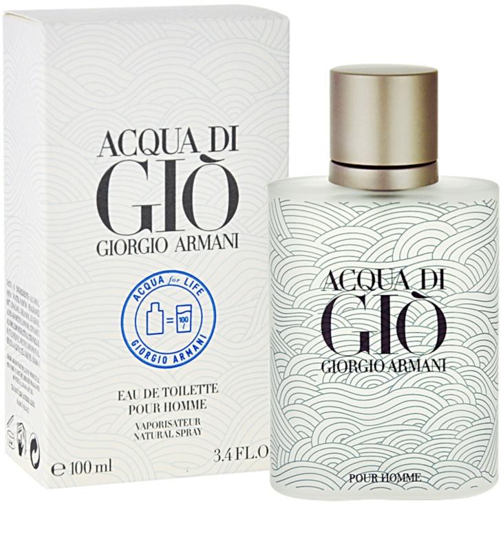 Armani Acqua di Gio Pour Homme Acqua for Life Limited Edition woda  toaletowa dla mężczyzn 07cf7af84c52