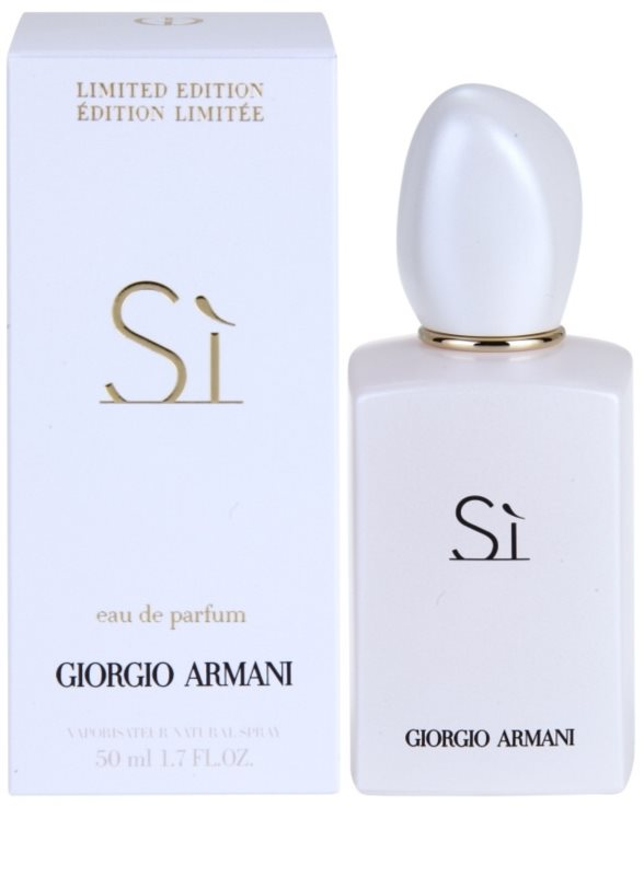 Armani Si White Limited Edition Eau De Parfum For Women 50 Ml