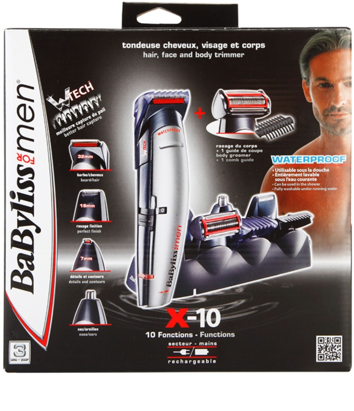 babyliss for men x 10 tondeuse cheveux et barbe. Black Bedroom Furniture Sets. Home Design Ideas