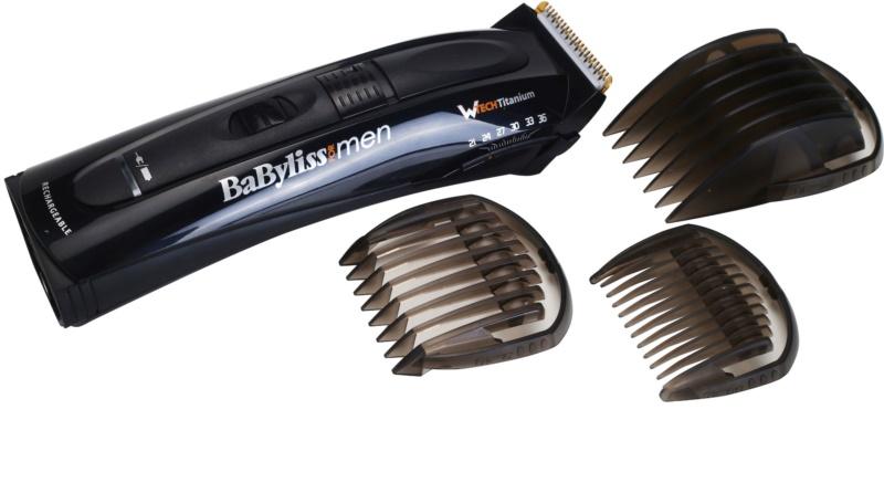 Babyliss For Men zastřihovač vlasů a vousů s titan wtech inovativní  geometrickou čepelí 6e789920324
