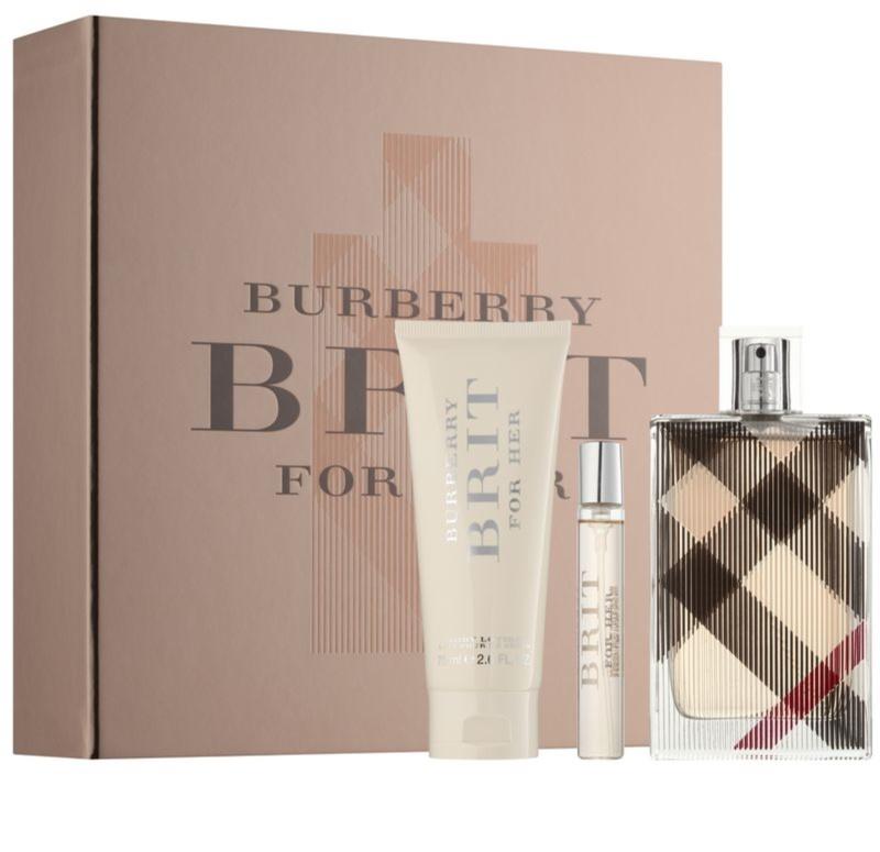 burberry brit for her coffret xii. Black Bedroom Furniture Sets. Home Design Ideas