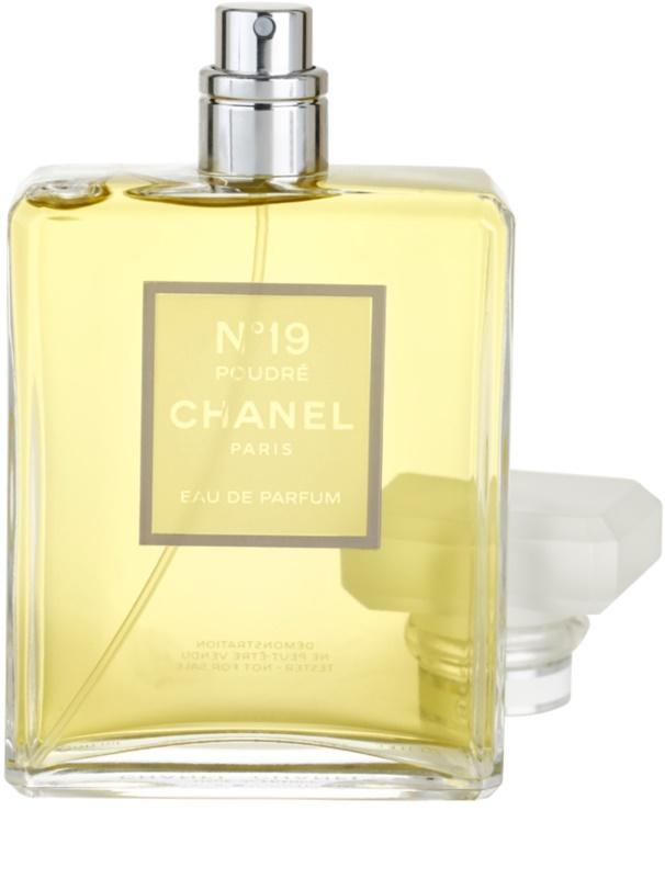 chanel n 19 poudr eau de parfum teszter n knek 100 ml. Black Bedroom Furniture Sets. Home Design Ideas