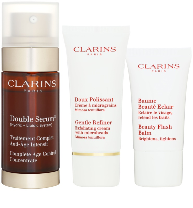 clarins double serum kosmetik set vi. Black Bedroom Furniture Sets. Home Design Ideas