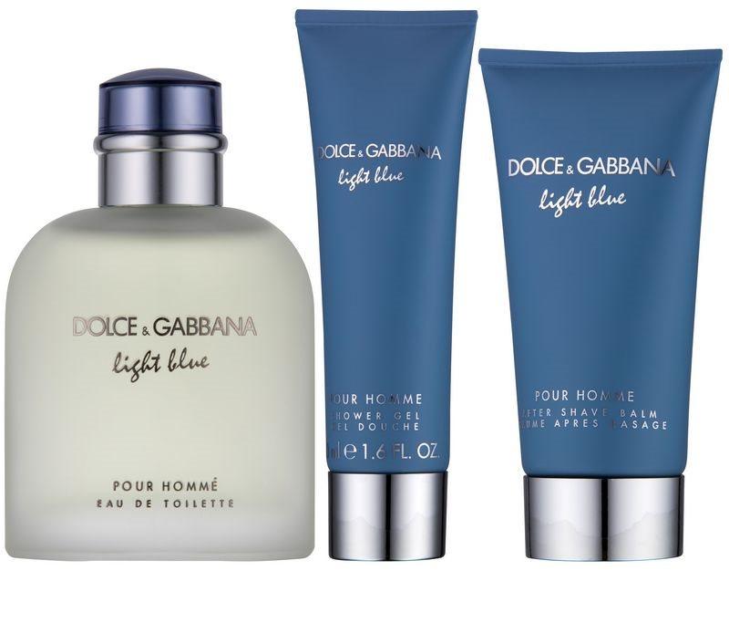 dolce gabbana light blue pour homme geschenkset i. Black Bedroom Furniture Sets. Home Design Ideas