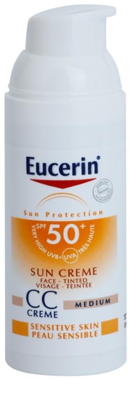 eucerin sun creme cc spf 50. Black Bedroom Furniture Sets. Home Design Ideas