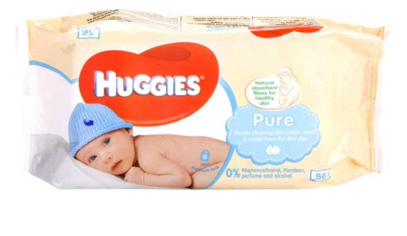 huggies pure reinigungst cher f r kinder ab der geburt. Black Bedroom Furniture Sets. Home Design Ideas