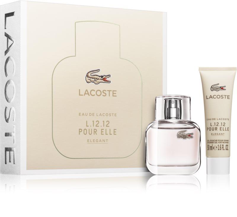 Lacoste Eau de Lacoste L.12.12 Pour Elle Elegant, coffret I   notino.pt 770c95d989