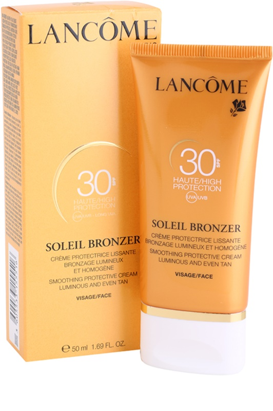 lanc me soleil bronzer cr me solaire visage spf 30. Black Bedroom Furniture Sets. Home Design Ideas