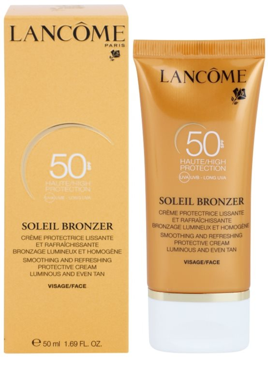 lanc me soleil bronzer cr me solaire anti ge spf 50. Black Bedroom Furniture Sets. Home Design Ideas