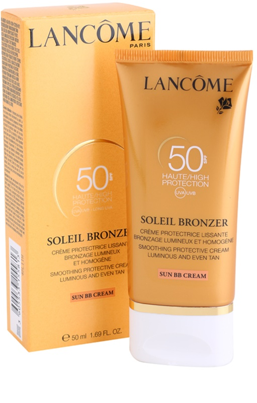 lanc me soleil bronzer cr me solaire visage spf 50. Black Bedroom Furniture Sets. Home Design Ideas