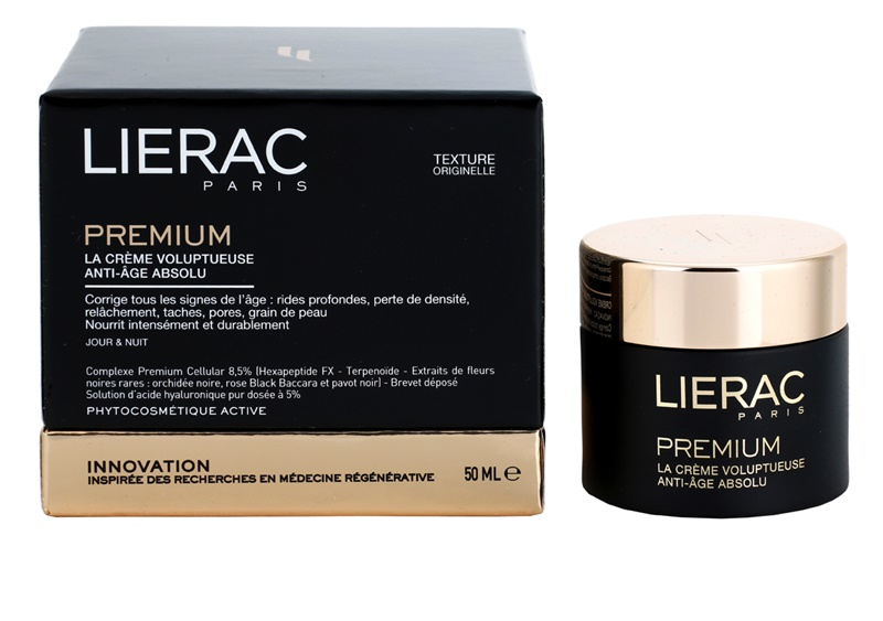 lierac premium day night voluptuous cream absolute anti aging for all types of skin. Black Bedroom Furniture Sets. Home Design Ideas