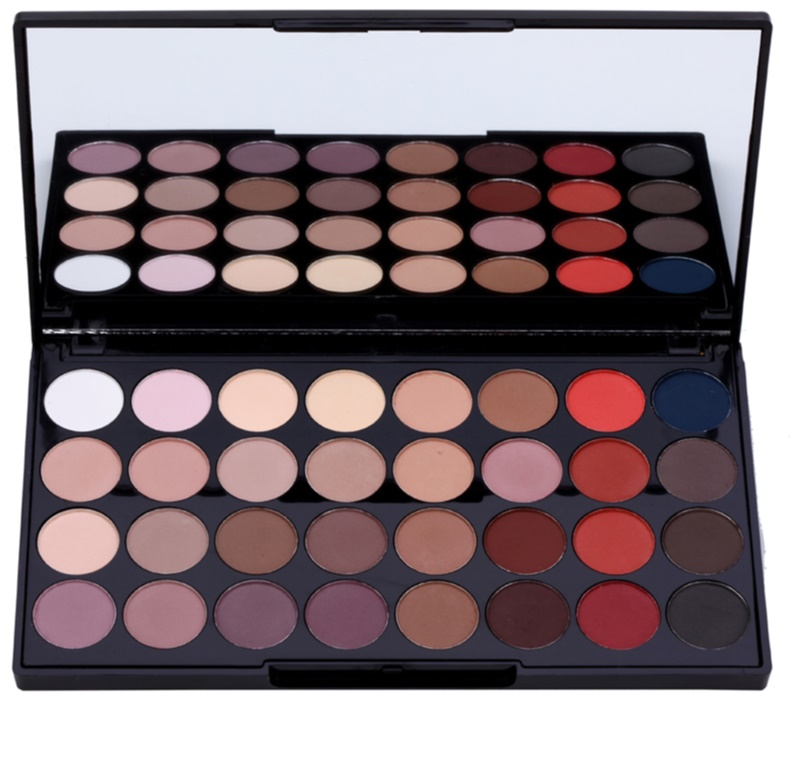 ... makeup revolution flawless matte 2 eye shadow palette with mirror · makeup revolution ultra 32 shade ...